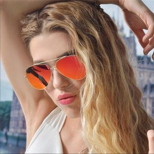 Accessories - 2018 Orangish/Red mirrored aviator sunglasses